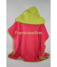 Poncho Adulte ORION Framboise/Anis/ Biais Anis