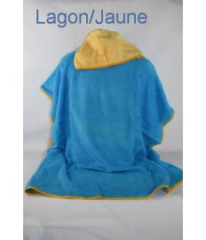 Poncho Adulte a personnaliser Lagon/Jaune