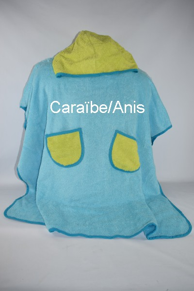 Poncho Adulte ORION a personnaliser Caraïbe/Anis
