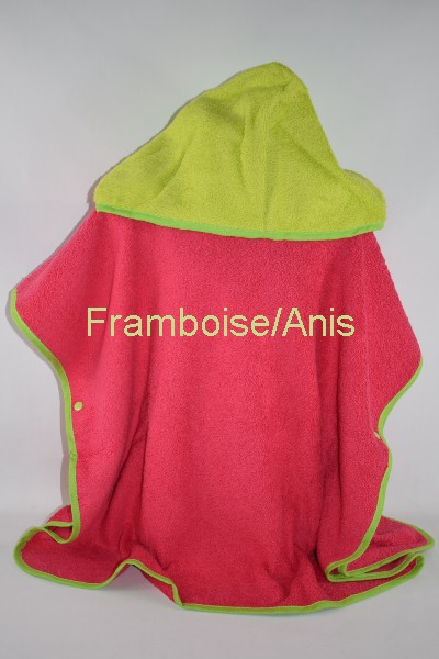 Poncho Adulte ORION a personnaliser Framboise/Anis