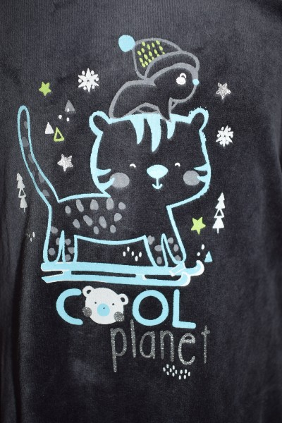"""Cool Planète"" motif chat"""